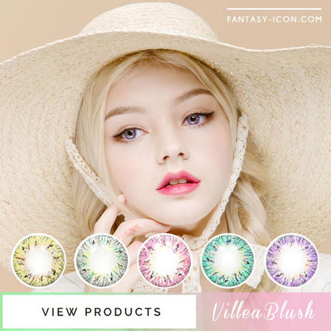 Colored Contacts Villea Blush - Circle Lenses