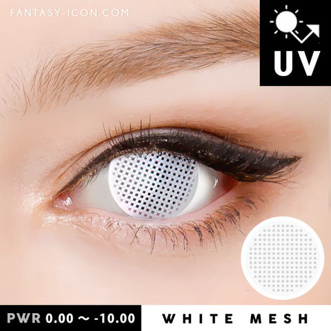 White Mesh Contacts