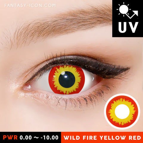 Wild Fire Yellow Red Contacts
