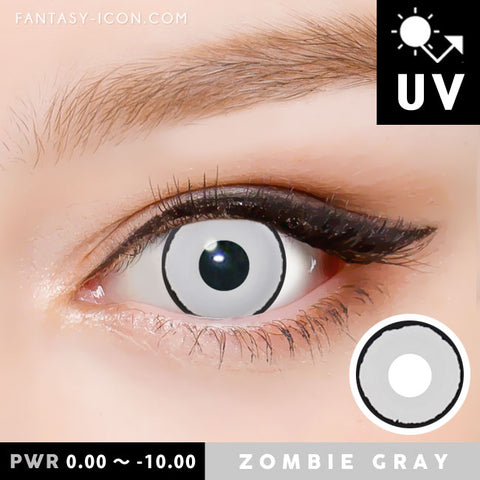 Zombie Gray Contacts