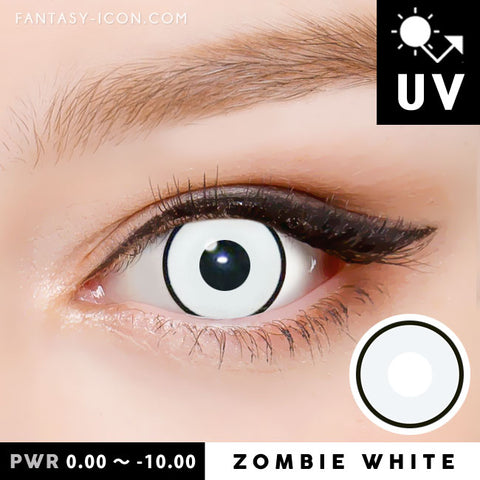 Zombie White Contacts