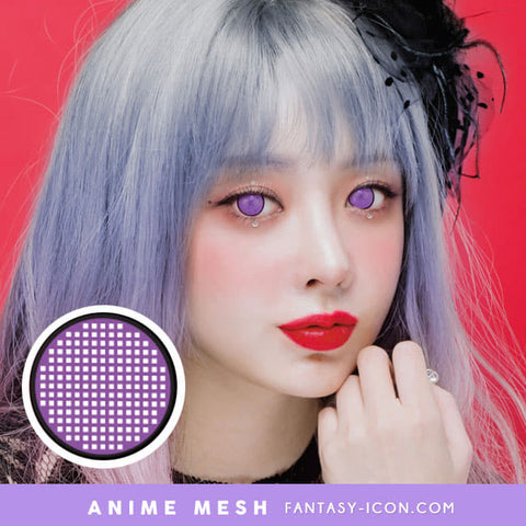 Anime Mesh Line Cosplay Violet Contacts - Purple Lenses