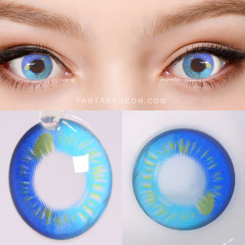 Water Drop Cosplay Blue Contacts | Coscon Anime Lenses