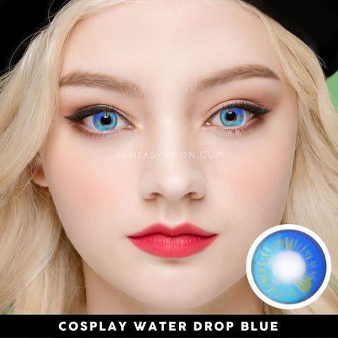 Water Drop Cosplay Blue Contacts | Coscon Anime Lenses 2