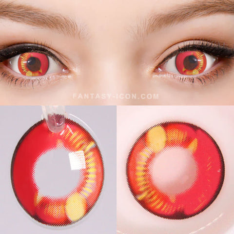 Water Drop Cosplay Pink Violet Contacts | Coscon red Lenses