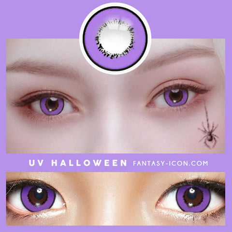 Cosplay UV Halloween Violet Contacts detail