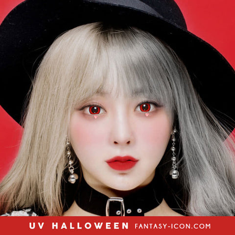 Cosplay UV Halloween Red Contacts Model eyes