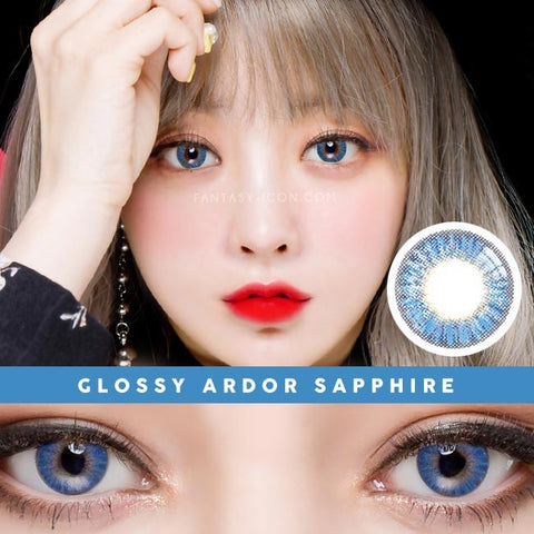 Innovision Glossy Ardor Sapphire Blue contacts