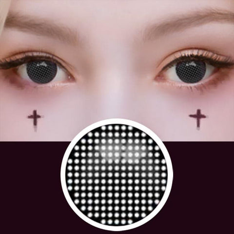 Halloween Mesh Cosplay Black Contacts | Anime Lenses