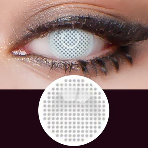 Halloween Mesh Cosplay white Contacts | Anime Lenses