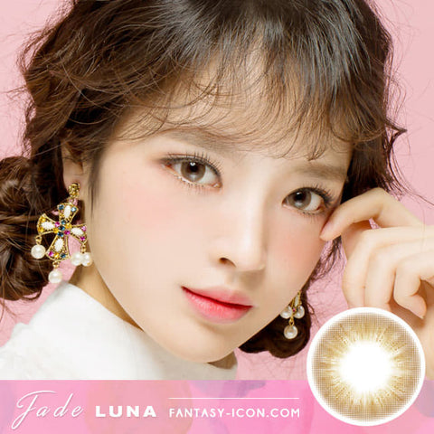 Jade Luna Brown Colored Contacts - Circle Lens model