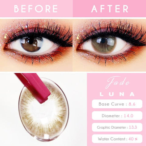 Jade Luna Brown Colored Contacts - Circle Lens eye detail