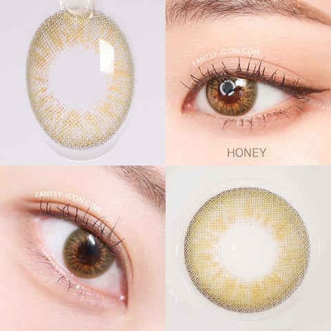 Natural honey Brown contacts