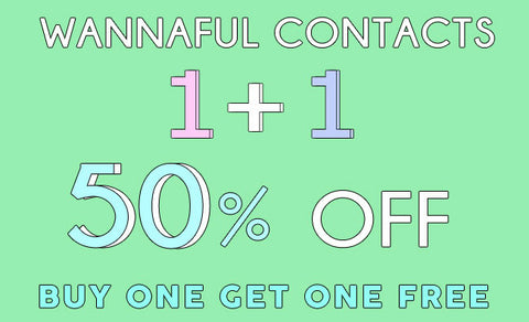 kpop Wannaful Contacts 11 types 50% OFF