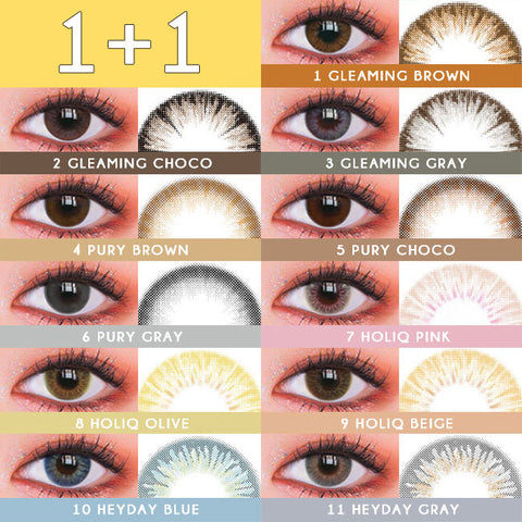1+1 kpop Wannaful Contacts 11 types