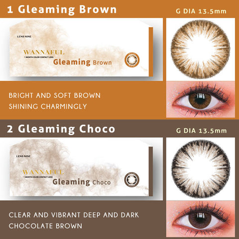 kpop Wannaful Contacts sale 4Lenses-Greaming Brown,Greaming Choco