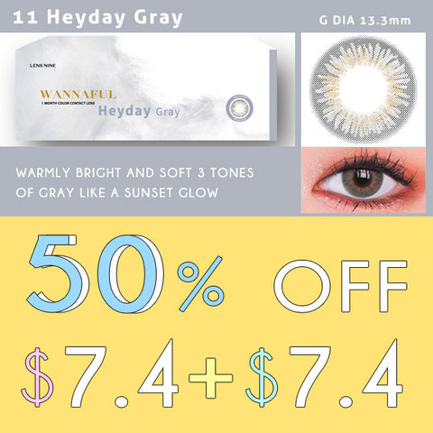 kpop Wannaful Contacts sale 4Lenses-Heyday Gray