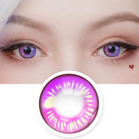 Water Drop Cosplay Violet Contacts | Purple Lenses| Coscon Anime Lenses