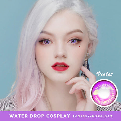 Water Drop Cosplay Violet Contacts Model