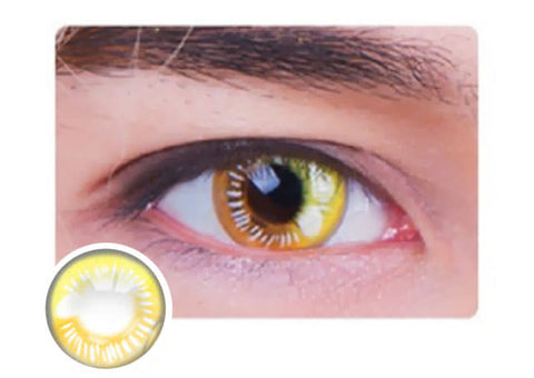 Water Drop Cosplay Yellow Contacts eyes
