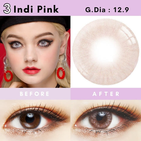 ZICO Lens Indi Pink CONTACTS