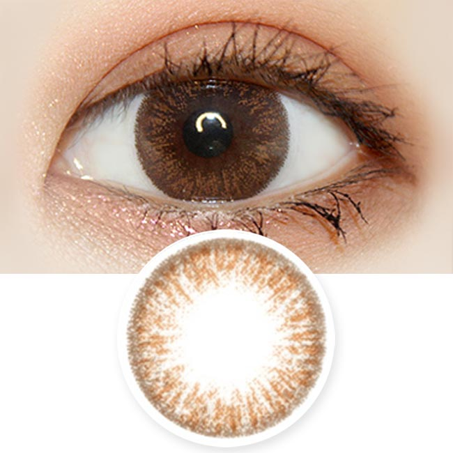 1 Day Colored Contacts Poppy Artric Brown
