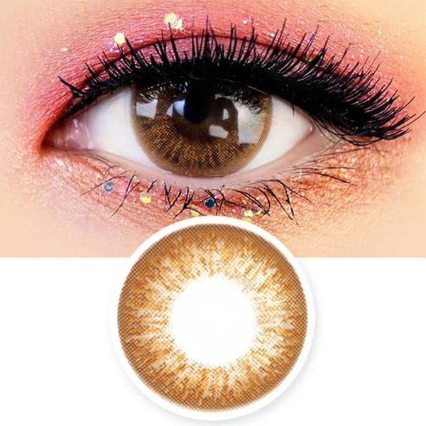 Angel Artric Brown 1 Day Colored Contacts - 12 Lenses