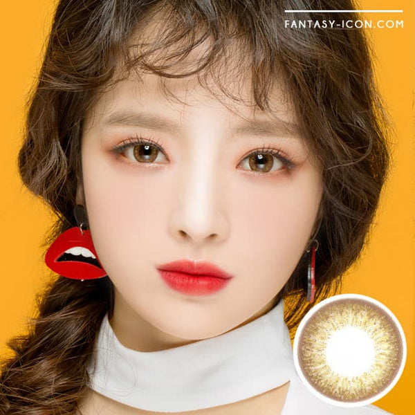 1 Day Colored Contacts Gold Brown Angel Artric Model