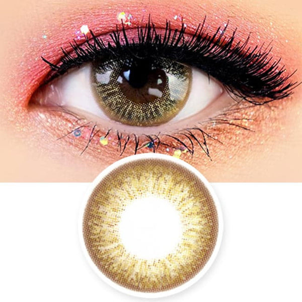 1 Day Colored Contacts Gold Brown Angel Artric