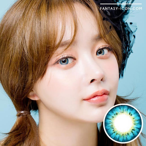 Colored Contacts - Ange Blue Circle Lenses 1