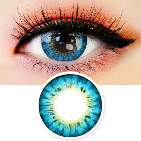 Colored Contacts - Ange Blue Circle Lenses
