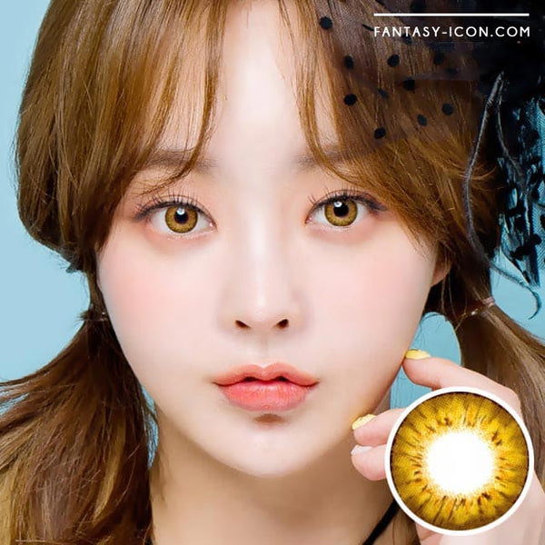 Colored Contacts - Ange Brown Circle Lenses 1