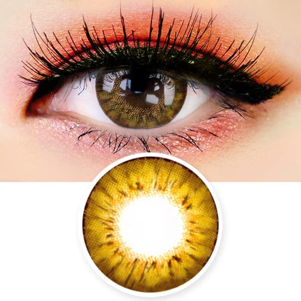 Colored Contacts - Ange Brown Circle Lenses