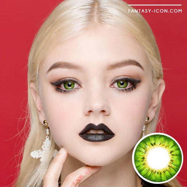 Colored Contacts - Ange Green Circle Lenses 1
