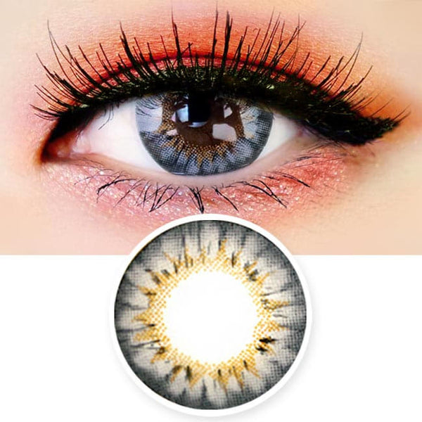 Colored Contacts - Ange Grey Circle Lenses
