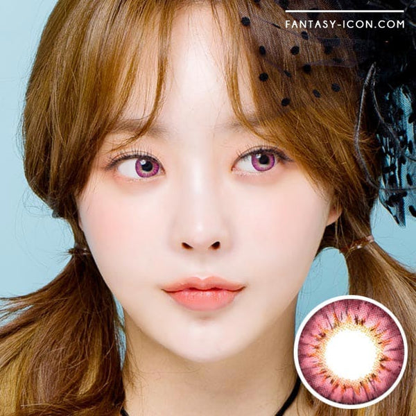 Colored Contacts - Ange Pink Circle Lenses 1
