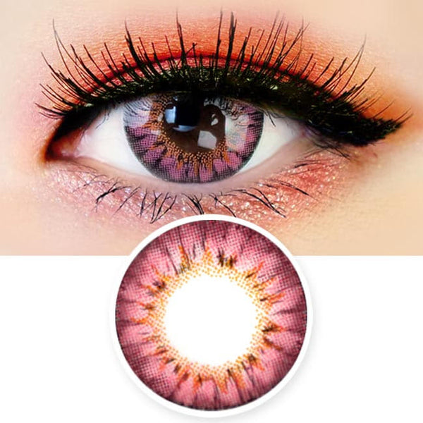 Colored Contacts - Ange Pink Circle Lenses