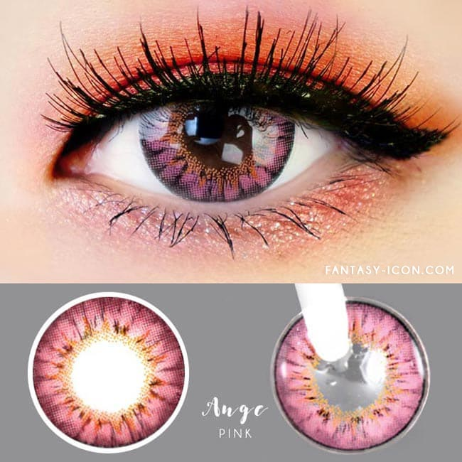 Colored contacts for Hyperopia Ange Pink 2