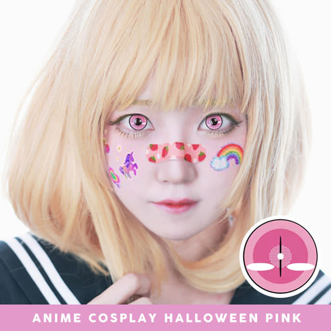 Anime Cosplay Halloween Pink Contacts - Demon slayer model