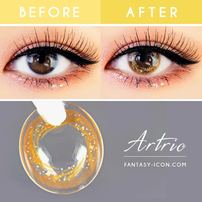 Artric Star Brown Colored Contact Lenses 3
