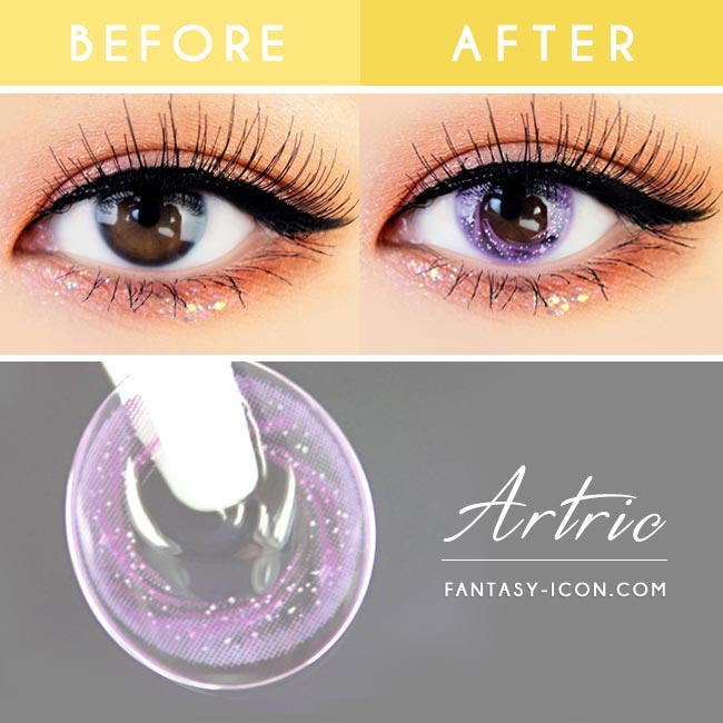 Artric Star Purple Violet Colored Contact Lenses 3