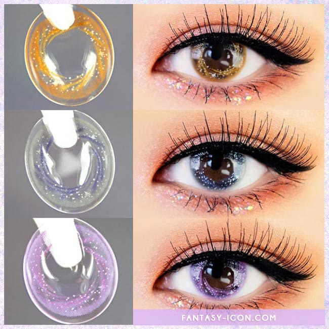 Artric Star Purple Violet Colored Contact Lenses 4