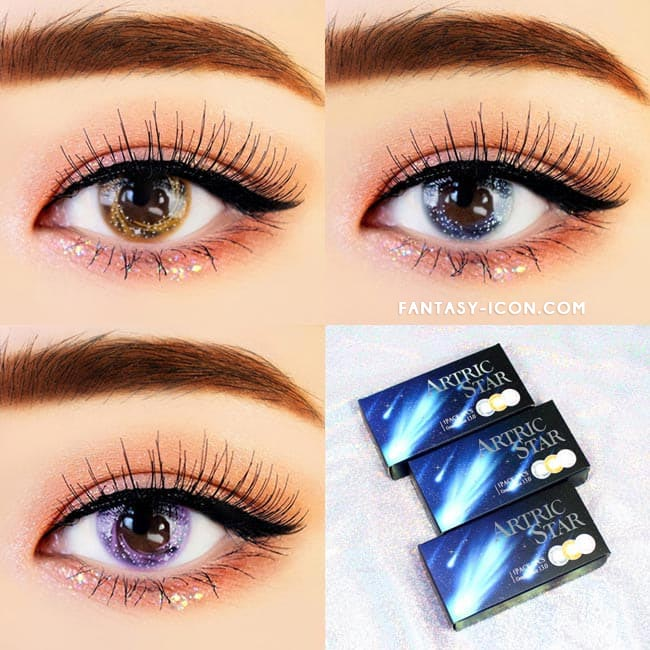 Artric Star Purple Violet Colored Contact Lenses 5