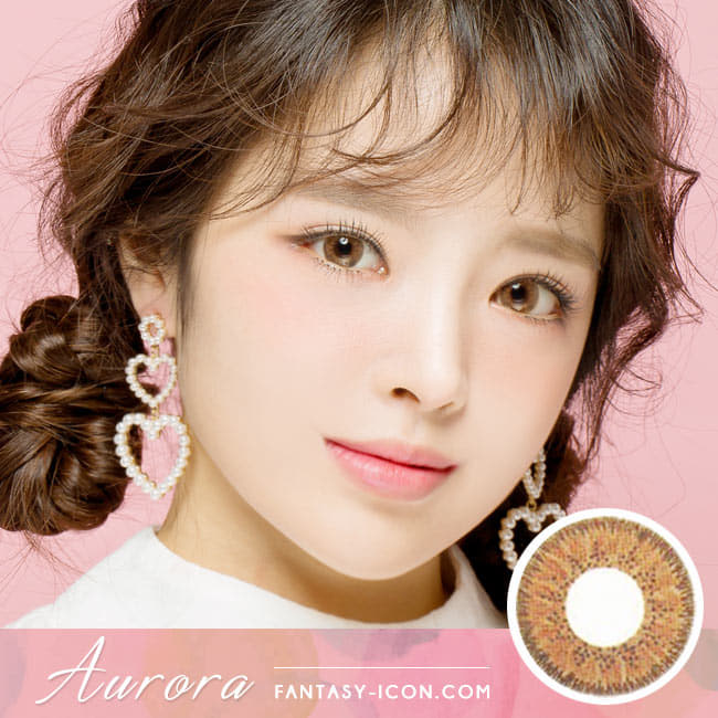 Colored Contacts For Astigmatism Aurora Brown Toric Lens  model