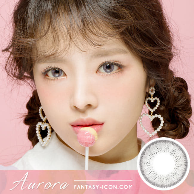 Colored Contacts For Astigmatism Aurora Grey Toric Lens model