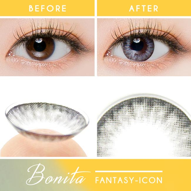 Toric Colored Contacts for Astigmatism - Bonita Dia Grey 2