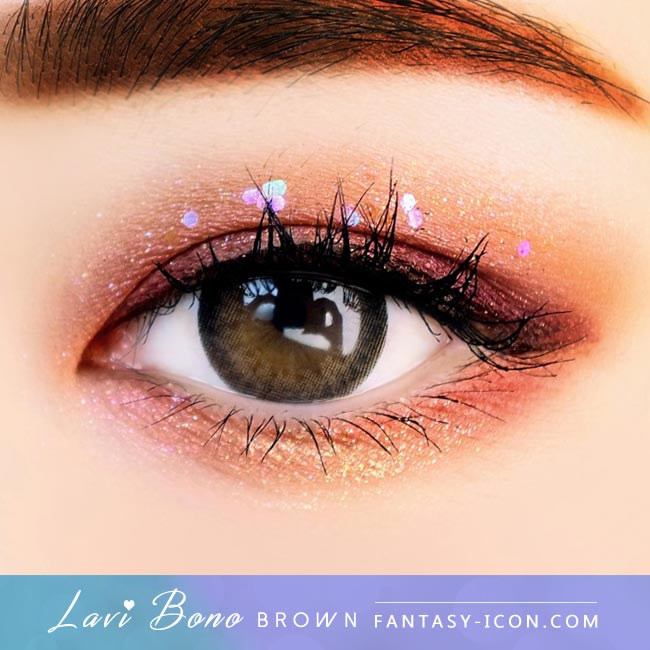 Brown Contacts - Lavi Bono - Eyes Detail