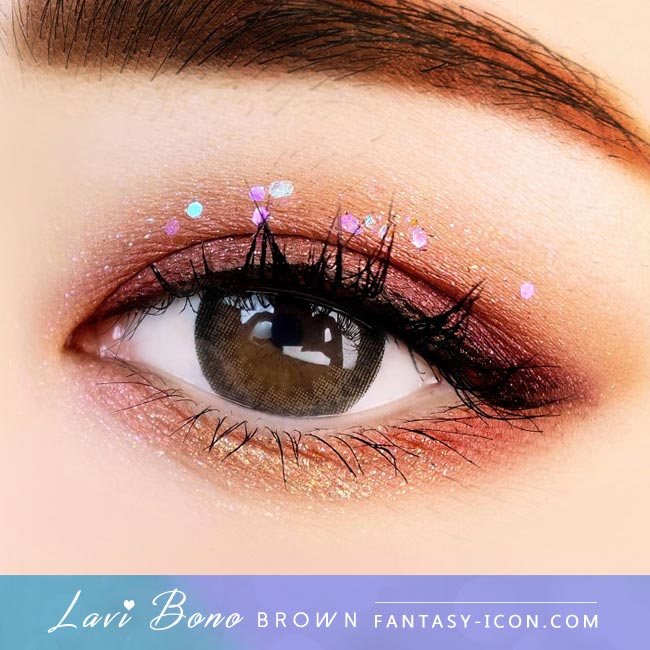 Brown Contacts - Lavi Bono - Eyes Detail 2