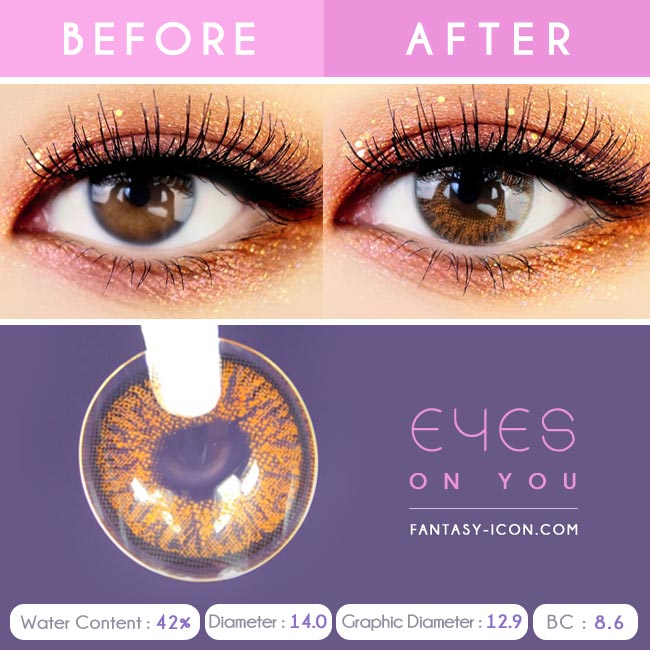 Brown Colored Contacts - Eyes on You - Eyes Detail