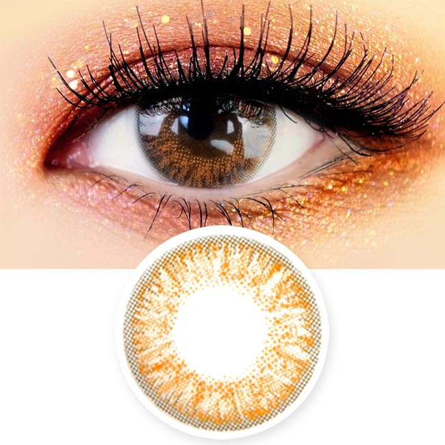 Brown Colored Contacts - Eyes on You Model